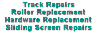 slider sliding glass patio door screen repair roller replacement track repair tampa hillsborough pasco pinellas